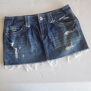 Aeropostale Mini Jean Skirt